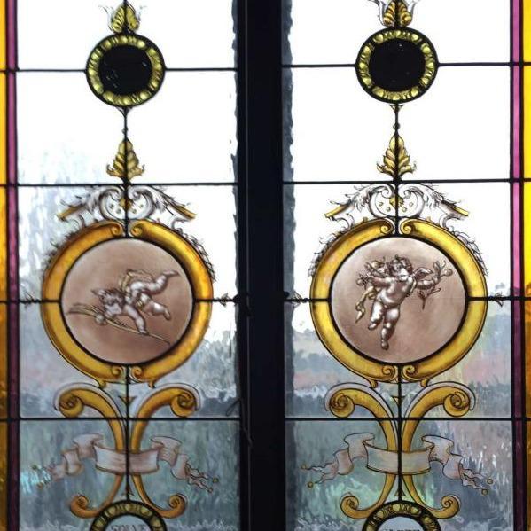 Vetrata artistica Puttini - Artistic Stained Glass windows Putti