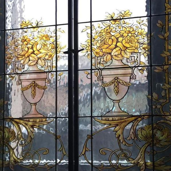 Vetrata artistica Vasi con fiori - Artistic Stained Glass windows Vases with Flowers